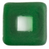 Glass Squares 12x12mm Transparent Green Matt
